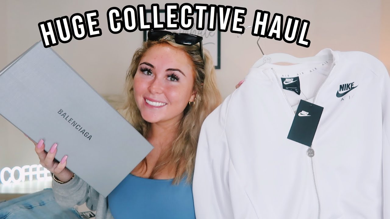 HUGE COLLECTIVE HAUL (summer/fall 2020) || Balenciaga, Nike, Free People, Dossier, The Kript & More!