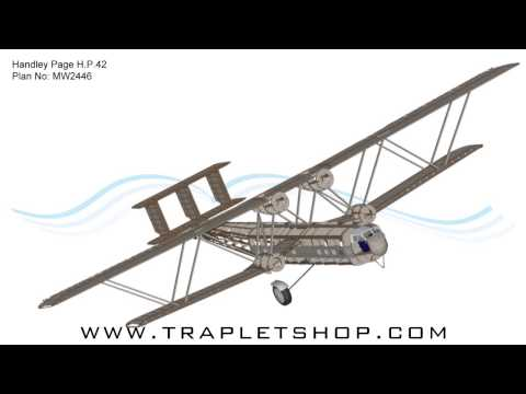 Handley Page H.P.42 RC Model Plan