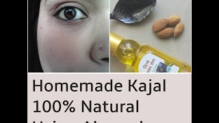 How to make kajal at home, Natural ayurvedic Kohl using Almond, DIY Herbal Kajal for baby in Hindi