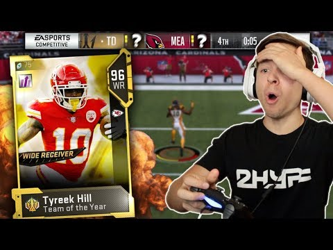 99 SPEED!! NO ONE CAN CATCH HIM! TYREEK HILL CRAZY TOUCHDOWNS! Madden 19 Ultimate Team