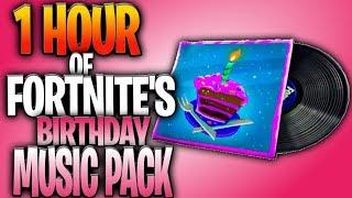 Fortnite Birthday Music Pack 1 Hour Remix! (B-DAY BEATS MUSIC PACK)