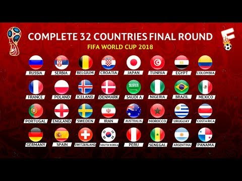 FIFA World Cup 2018 : Fix 32 List Of Team That Have Qualified⚽ Footchampion