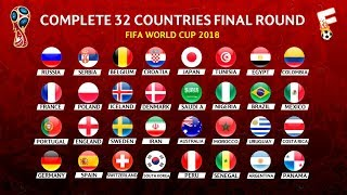 FIFA World Cup 2018 : Fix 32 List Of Team That Have Qualified  ⚽ Footchampion