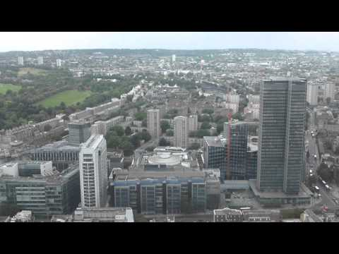 360 degree view of london from the top of the BT Tower