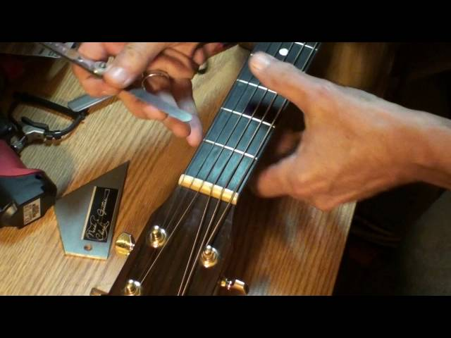 Raising nut/first fret action on one string only, super glue baking soda trick upgraded