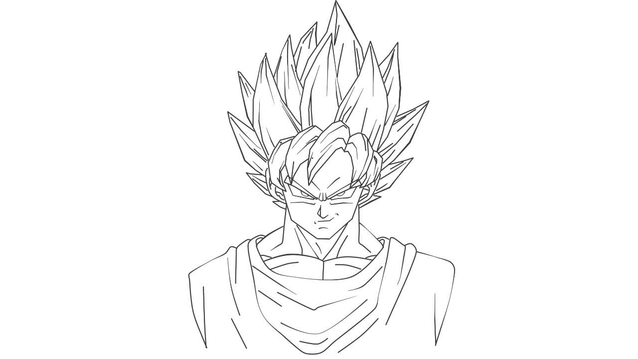 como desenhar goku ssj 1 de uma maneira fÁcil e sem erro how to