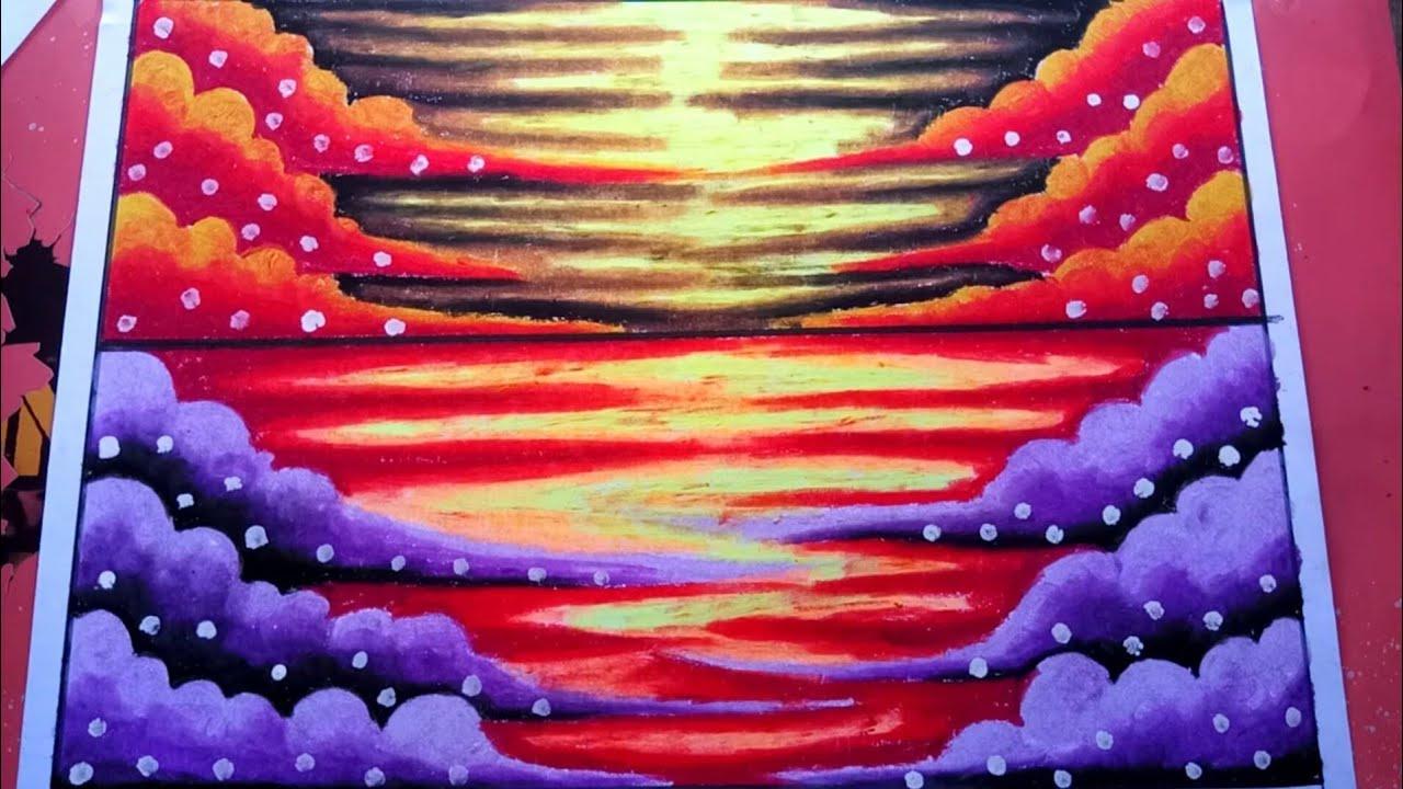 Cara Mewarnai Gradasi Langit Dan Awan Dengan Crayon Fabercastell