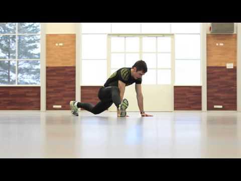 Kestävyysliikkujan lihaskuntoliikkeitä: Jalkojen heilautus sivuille
