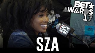 SZA  in The BET Awards Radio Room w/ Dj A-Oh
