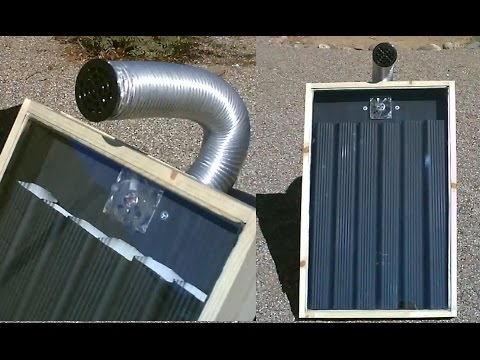 "DIY Solar Air Heater! - Solar Thermal STEEL ""DOWN-SPOUT"" Air Heater! - Easy DIY (Full instr.) 140F"