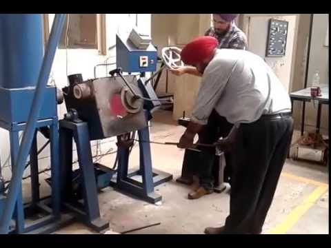 Oil Fired Tilting Furnace with Recuperator