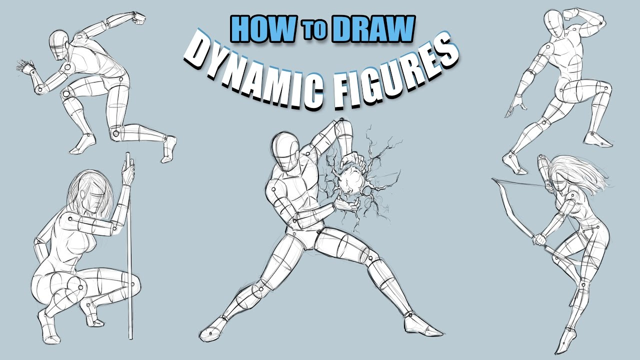 How To Draw Dynamic Figures - Tutorial - Narrated