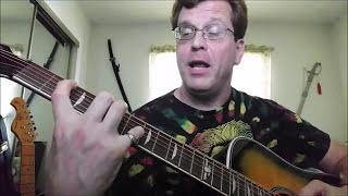 guitar lessons for the left handed - weird power chords, harmonic, strange sounding.....