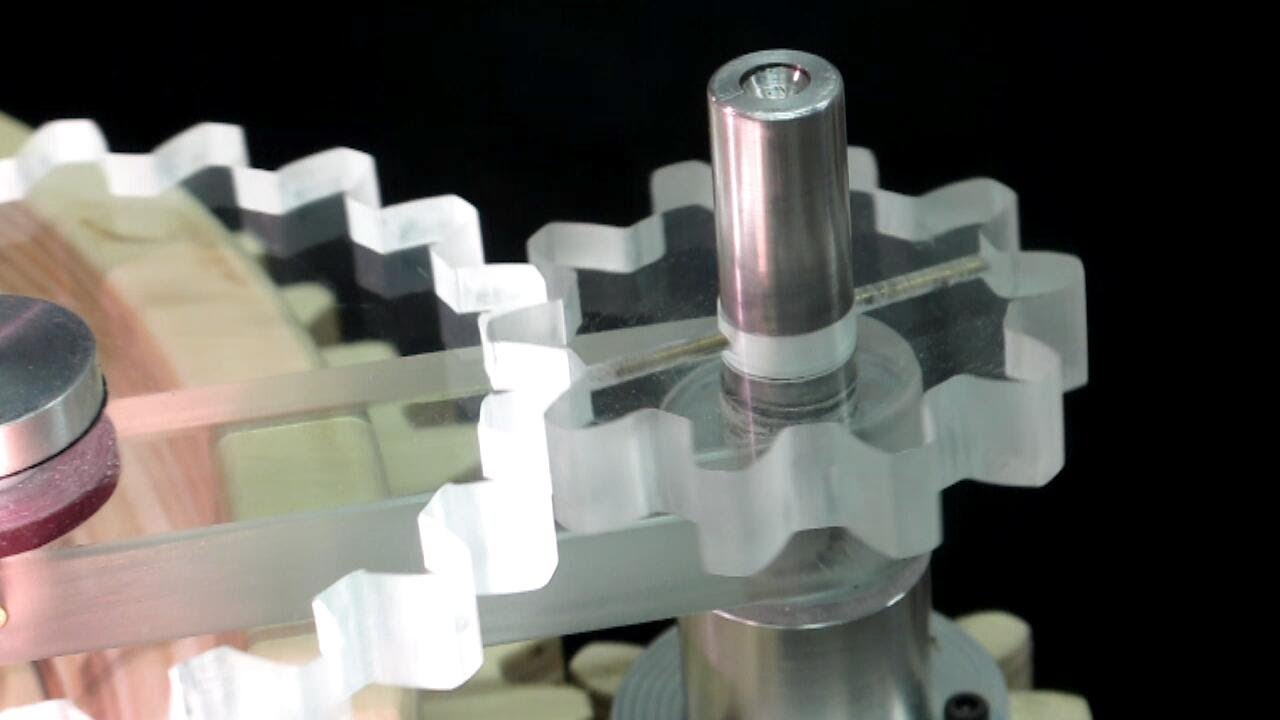 Plexiglass Gears On The Scroll Saw Youtube