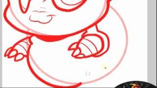 How to Draw Chibi Blastoise, Blastoise, Step by Step