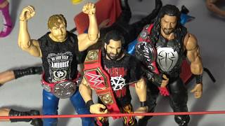 WWE action figure set up - The Shield