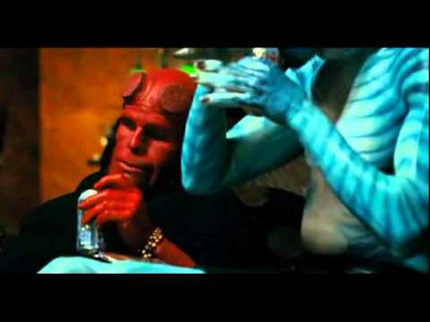 Best Hellboy 2 scene. Hellboy and Abe drinking and singing