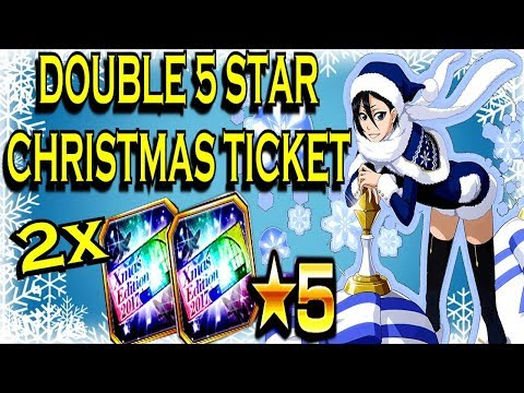 DOUBLE 5 STAR CHRISTMAS TICKET SUMMON!! RUKIA COME TO ME!! [Bleach Brave Souls]
