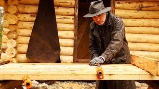 The Off Grid Sauna Log Cabin Door | Woodworking DIY with Hand Tools