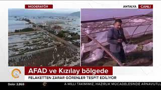 Antalya'da hortum yıktı geçti
