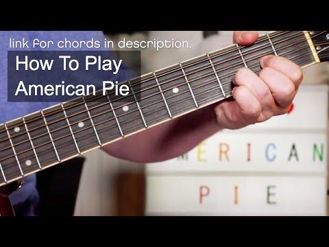 'American Pie' Don McLean Beginner's Guitar Lesson