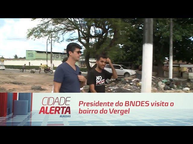 Obras de saneamento: presidente do BNDES visita o bairro do Vergel