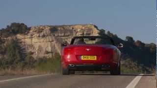 Bentley Continental GTC V8 Cabrio - Trailer Fahraufnahmen Rioja Spanien 2012