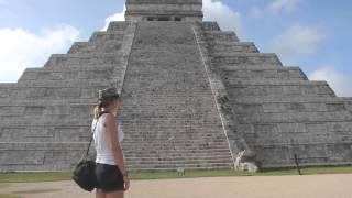 Пирамида Чичен Ица Мексика. Звук птицы Квезаль.(Мексика Чичен-Ица. У племен Мая была божественной птицы Квезаль. Она и сейчас живет в джунглях. Птица имеет..., 2014-01-21T19:59:31.000Z)
