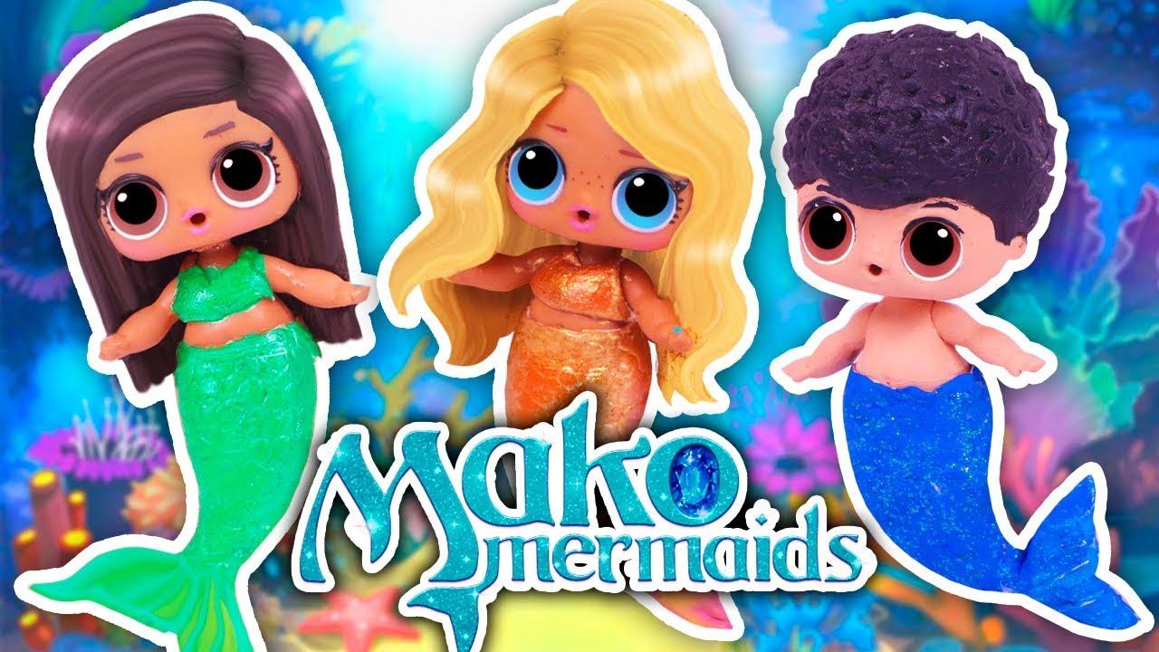 Mako Mermaids Lol Surprise Custom Dolls Diy Toy Tutorial Youtube