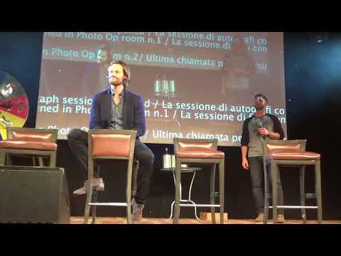 JIB9 2018 Jared Padalecki Saturday Panel with Jensen, Rob and Rich