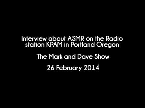 [ASMR & Media] Radio Interview - The Mark & Dave show in Portland