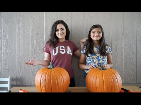 PUMPKIN CARVING CHALLENGE !!
