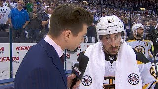 Brad Marchand keeps it short and simple after series-clinching Game 6 victory