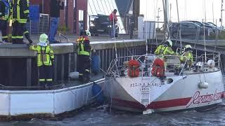 Laboe Sturm 29.10.2017 wütet im Yachthafen, Ostsee Hafen