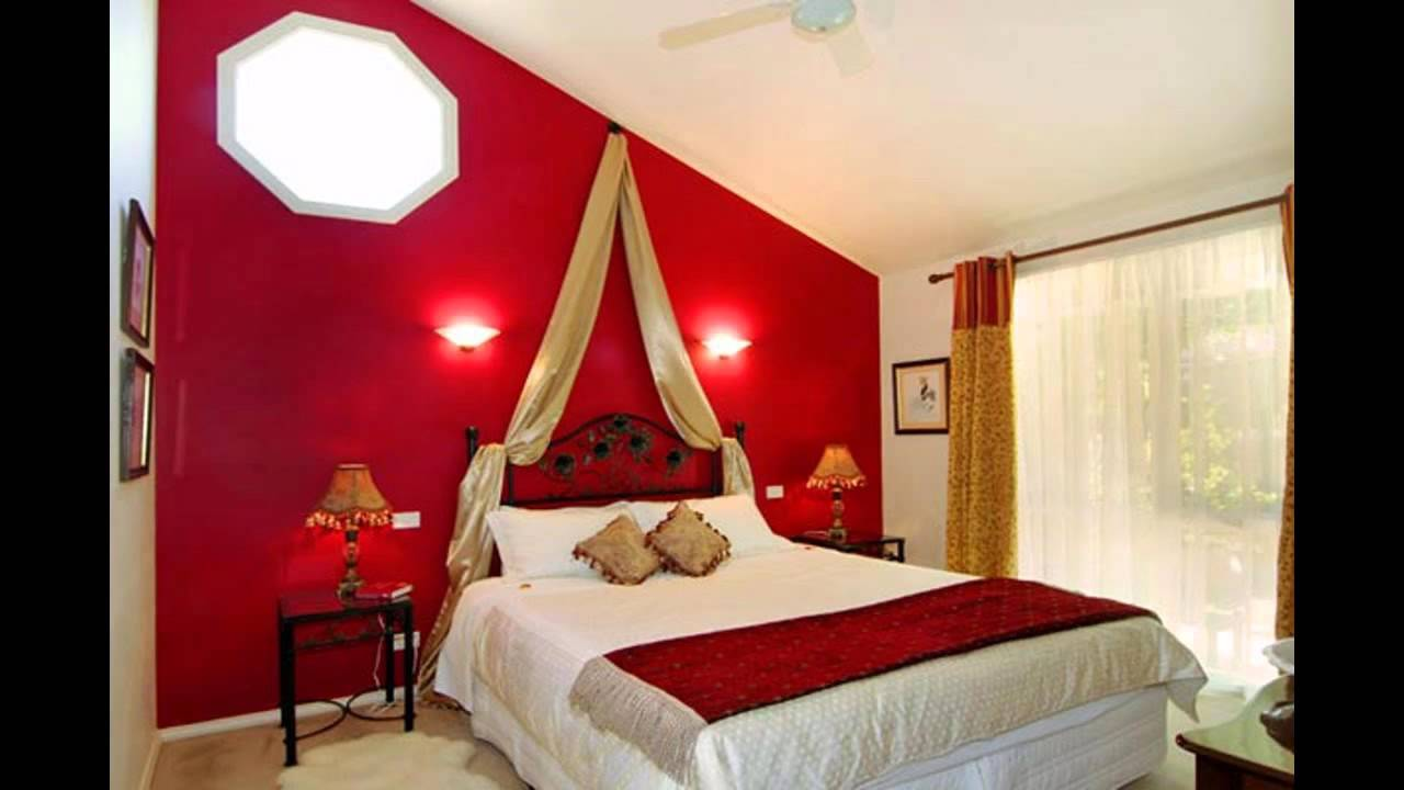 cool red bedroom decorating ideas youtube - Red And White Bedroom Decorating Ideas