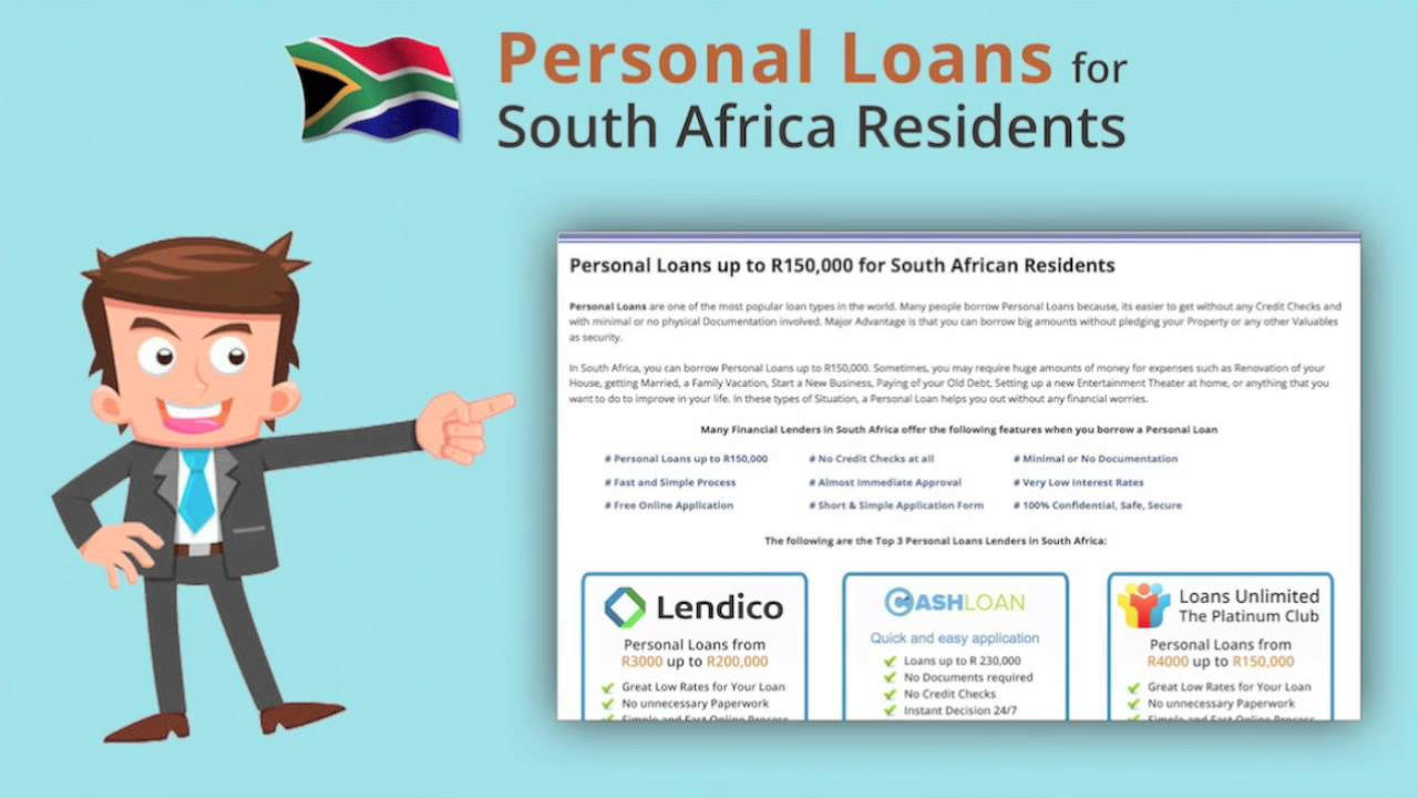 Personal Loans South Africa - YouTube