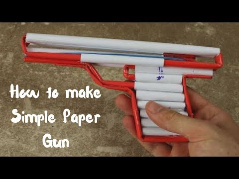 How to make a Simple Airsoft ( Paper Gun)  || Life Hack