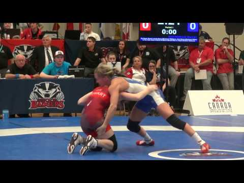 2017 SR CDN Championship FW53kg Jessica Macdonald (Brock) vs Sam Stewart (Bears)