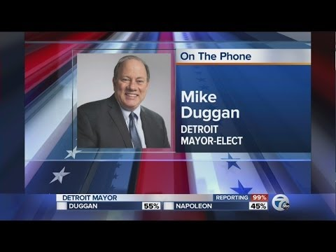 Mayor elect Mike Duggan calls 7 Action News this Morning