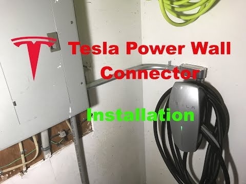 Telsa High Power Wall Connector Installation