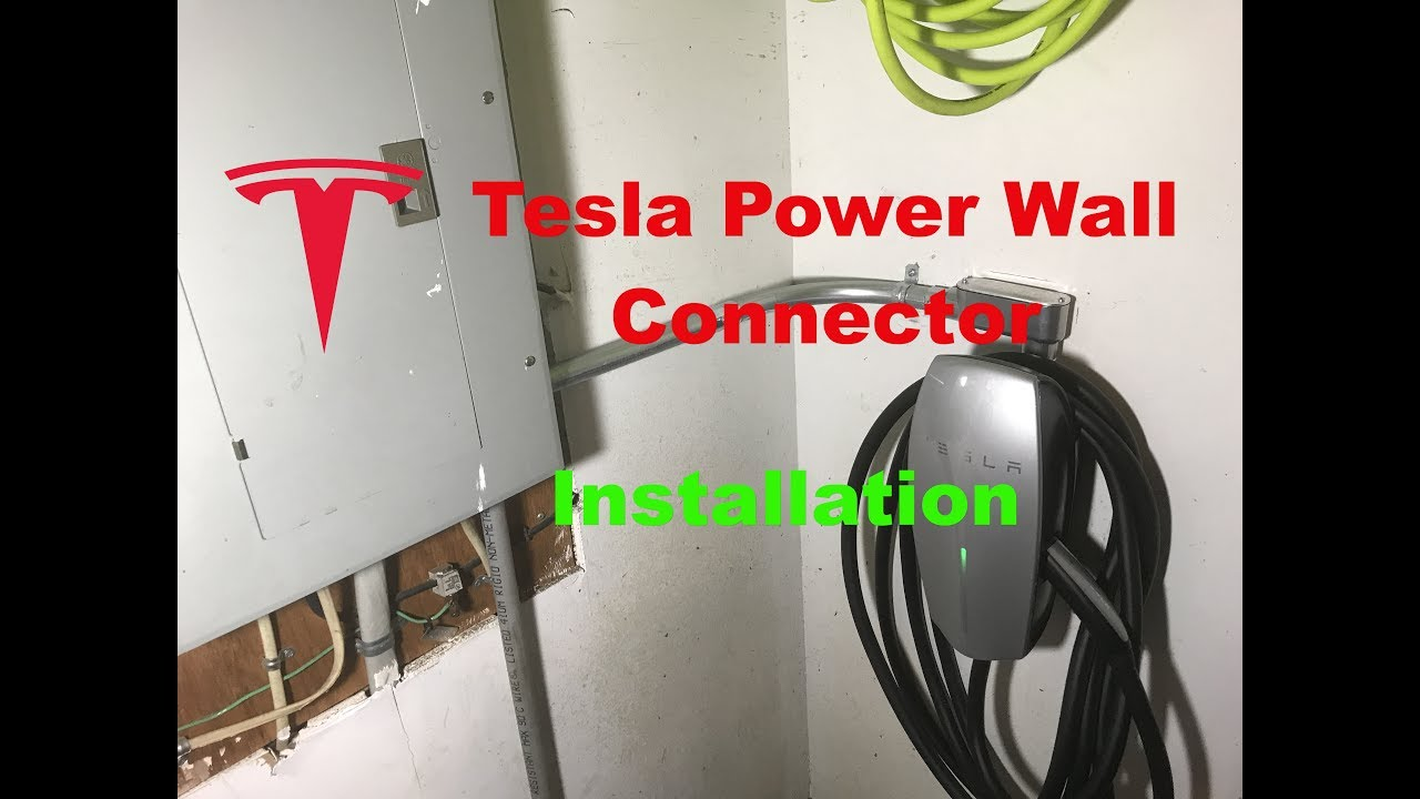 tesla high power wall connector installation youtube. Black Bedroom Furniture Sets. Home Design Ideas