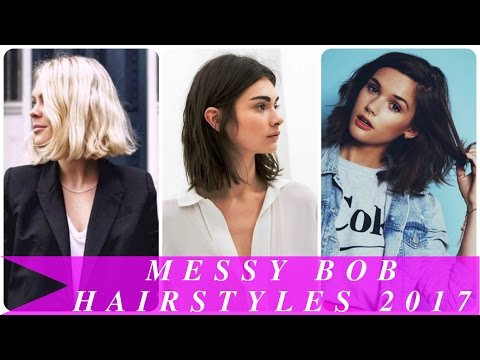 Messy bob hairstyles 2017