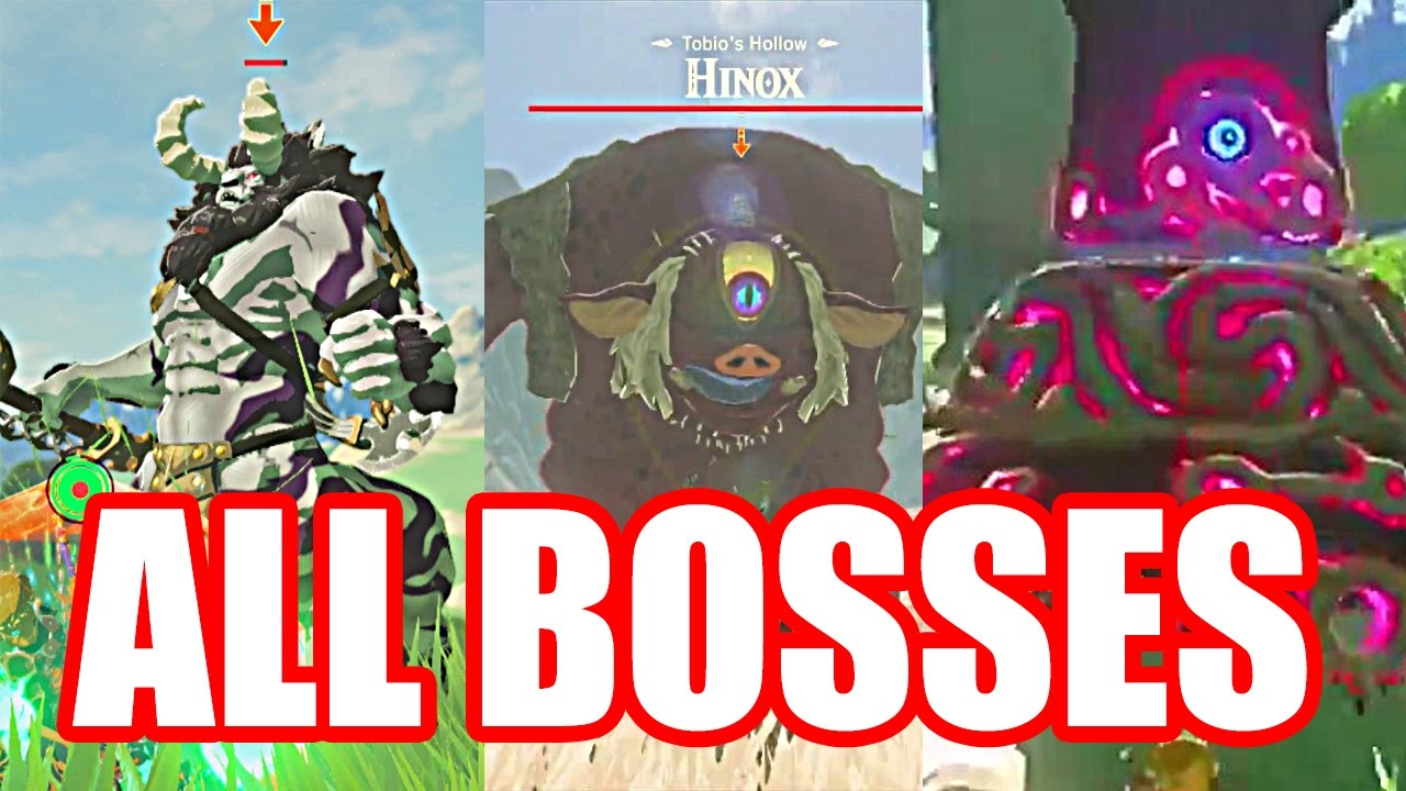 Breath Of The Wild Bosses >> Zelda Breath Of The Wild All Overworld Bosses And Defeat
