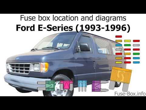 [QNCB_7524]  Fuse box location and diagrams: Ford E-Series / Econoline (1993-1996) -  YouTube | 96 Ford Econoline Fuse Box |  | YouTube