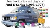 Fuse Box Location And Diagrams Ford E Series Econoline 1998 2001 Youtube