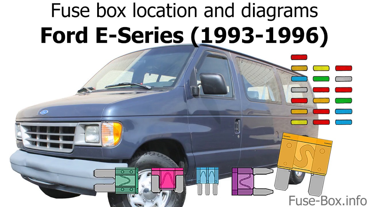 Fuse Box Location And Diagrams  Ford E-series    Econoline  1993-1996