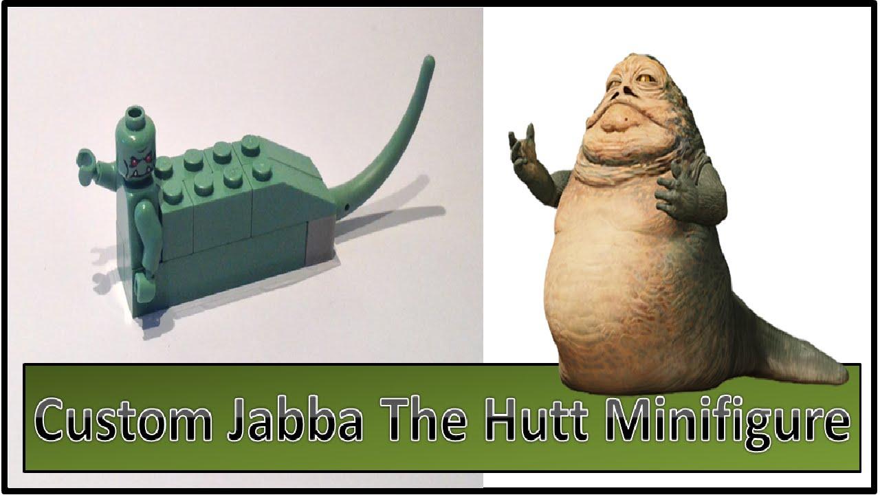 Custom Lego Jabba The Hutt Minifigure + Tutorial - YouTube