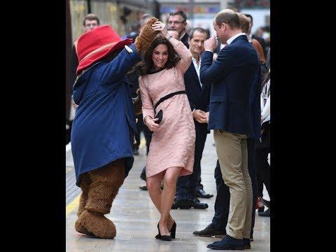 Pregnant Kate Middleton Dancing with Paddington Bear