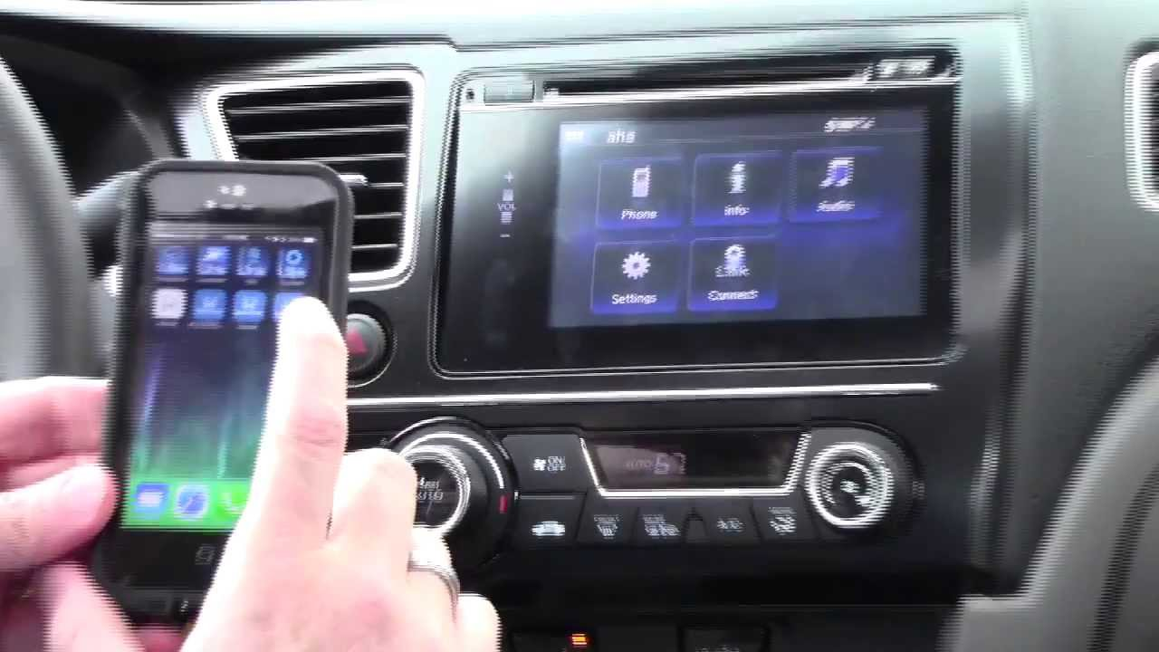 HondaLink Navigation Demo for 2014 Honda Civic with iPhone 5 by