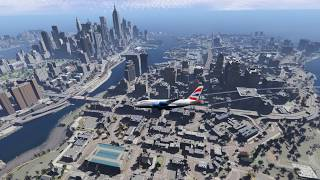 Flying To Liberty City In GTA V Exclusive Gameplay GTA IV Remastered